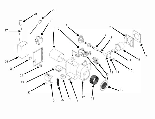 Crematory Gas Burner Replacement Parts
